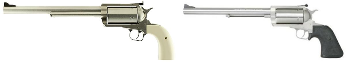 """Revolver BFR (Big Frame Revolver) niektorí volajú aj Biggest Finest Revolver - Najväčší Najúžasnejší Revolver. Je od americkej firmy Magnum Research, ktorá stojí aj za pištoľou Desert Eagle. Najneuveriteľnejsí je jej kaliber .45-70, ktorý môže mať energiu až 4100J, čo je viac ako ktorýkoľvek náboj .500S&W. Revolver má celo oceľový rám a hlaveň vyrobenú s dôrazom na maximálnu presnosť. Revolver je možné dodať s čiernymi alebo bielymi strenkami a s hlavňou 7,5"""" alebo 10"""". Cena od 1799€"""