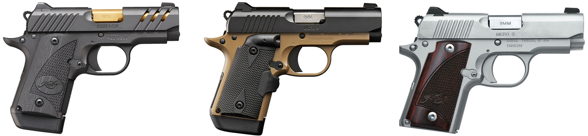 V ponuke máme viac ako 40 modelov pištolí Kimber, ktoré sa vyznačujú vysokou kvalitou, inovatívnymi materiálmi a fantastickým dizajnom, vďaka čomu boli zaradené do výzbroje mnohých vojenských a policajných zložiek, napríklad špeciálnych jednotiek LAPD SWAT. Rad Kimber Micro 9 je jedna z najmenšich pištolí na platforme 1911 z ponuky Kimber, je v ráži 9x19mm a váži iba 440g, čo je ideálne na skryté nosenie. Uvedená cena je za Micro 9 Desert, v ponuke máme aj Micro Eclipse, ESV, Raptor.