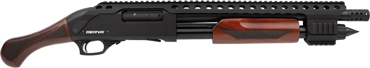 Derya je nie len popredným svetovým výrobcom brokovníc ale aj významným hráčom na poli dizajnu a inovácií. Dôkazom je aj nová Derya Carina QR - Equalizer. Brokovnica ako vystrihnutá z apokalyptického filmu. Drevená rúčka aj predpažbie, rail po celej dĺžke pušky, skrývač plameňa, hlaveň 35cm, zásobník 4+1.