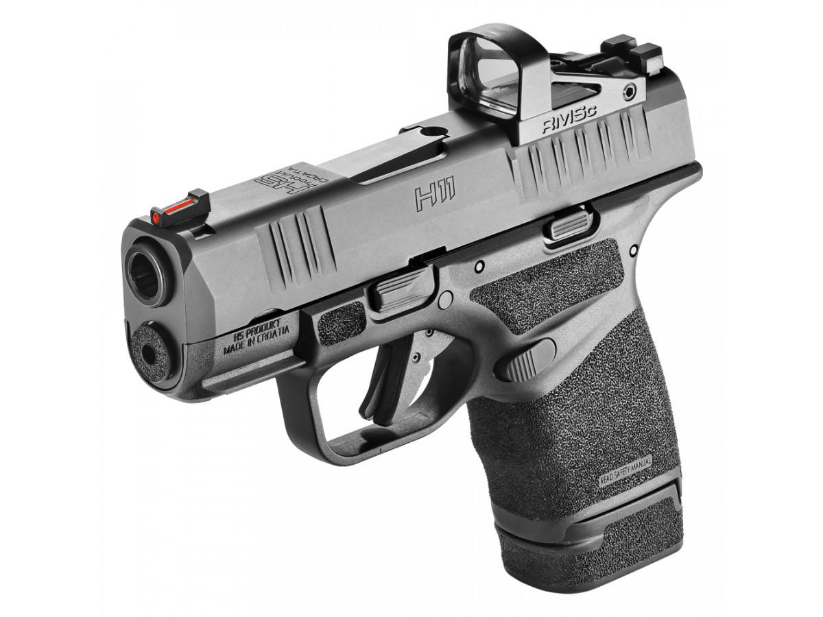 Pištoľ kal. 9x19 veľkosti mikro-kompakt s polymérovým rámom. V Amerike známa aj ako Springfield Hellcat. Táto verzia je s prípravou na kolimátor. Patentovaný dizajn zásobníka robí z H11 mikro-kompakt s najvyššou kapacitou na svete. Adaptívny povrch rukoväte poskytuje výnimočnú kontrolu pri rýchlej streľbe. Cieľnik a muška sú stranovo nastaviteľné, vyrobené z ocele. Muška je vybavená červeným svetlovodivým vláknom, cieľnik má biele zvýraznenie v tvare polkruhu. H11 disponuje poistkou spúšte, poistkou úderníka a indikátorom nabitej komory. Vypúšťač zásobníka sa dá otočiť na pravú stranu pre potreby ľavákov. Pištoľ je dodávaná s tromi zásobníkmi z nehrdzavejúcej ocele - jeden s kapacitou 11 nábojov, dva s kapacitou 13 nábojov. Súčasťou balenia je aj rovné (ploché) dno zásobníka. Nízka hmotnosť, veľká kapacita a vysoká spoľahlivosť robia z H11 dokonalú zbraň na skryté nosenie. Súčasťou balenia sú 3 zásobníky, ploché dno zásobníka, sada na čistenie a kufrík. Kolimátor nie je v cene.