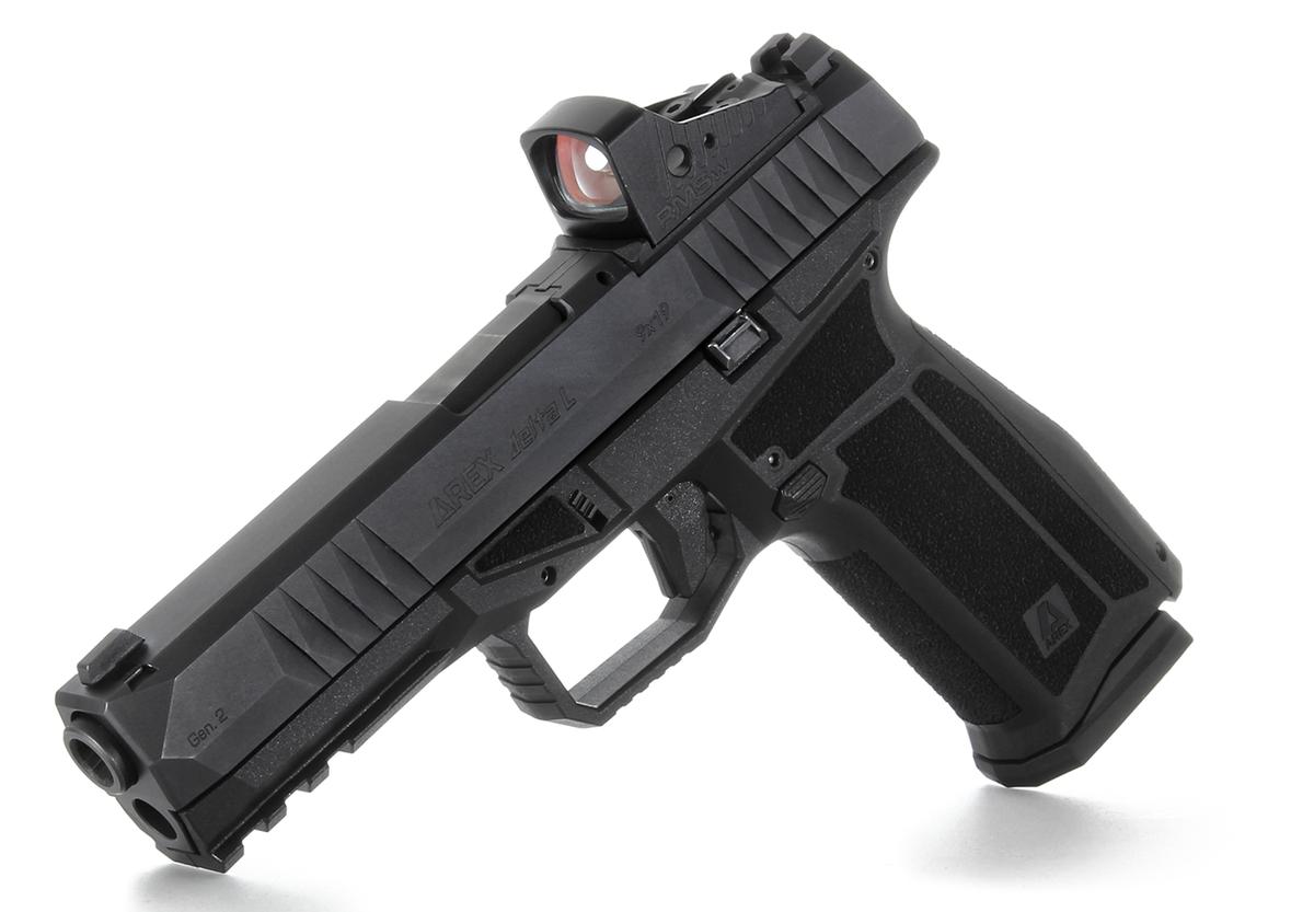 Druhá generácia úspešnej pištole Arex Delta. Má všetko, ako predošlá generácia, ale vylepšenú stippling rukoväť, ktorá lepšie sedí a drží v akomkoľvek počasí. Pribudli 3 veľkosti a možnosť nasadenia kolimátora (OR - Optics Ready). Ponúkame veľkosti X - asi ako G19X za 580€ a L - asi ako G17 za 599€. Tieto sa dajú objednať v 3 farbách  - čiernej, pieskovej FDE a šedej. Balenie obsahuje okrem kufríka aj 4 výmenné chrbty rukoväte, 18 a 20 ranový zásobník, 4 doštičky na montáž kolimátora a čistenie. Kolimátor nie je súčasťou balenia.