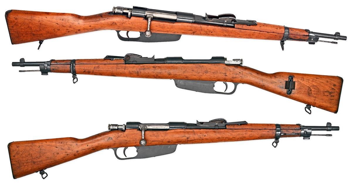 Ponúkame krátku verziu (carbine) talianskej opakovacej pušky Carcano M91, uvedenej do výzbroje v roku 1892 až do roku 1945 v kalibri 6.5x52mm (mávame v ponuke). Ide o netradičnú pušku s vysokou zberateľskou hodnotou. Pušky bývajú vo výbornom stave, v bledom dreve. Puška je bez nabíjacích pásikov, dá sa použiť aj bez nich. Zbraň kategórie C - netreba nákupné povolenie.