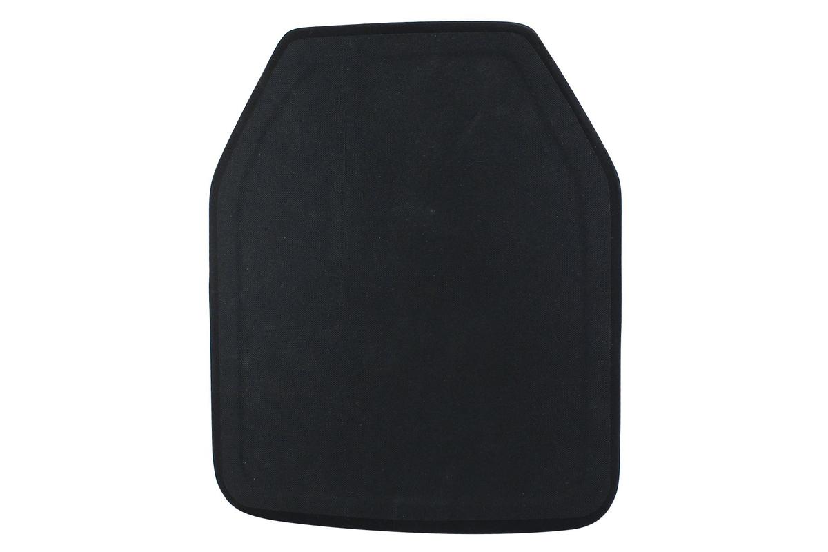 Ergonomicky tvarovaný keramicko-kompozitný balistický plát - spodná vrstva je vyrobená z polyetylénových vlákien s ultra vysokou molekulovou hmotnosťou a vrchná z vysokočistého keramického materiálu na bázi silikón karbidu, čím získava plát extrémnu odolnosť pri nízkej váhe a zároveň znižuje trauma efekt. Plát je v balistickej odolnosti podľa normy NIJ 0101.04 stupeň IV a zároveň multi hit, čo znamená, že musí vydržať minimálne 3 zásahy kalibrom .308WIN alebo 7.62x54R. Tvar panelu je zahnutý a anatomicky prispôsobený telu so skosenými rohmi. Rozmery panelu sú 30x25cm, hrúbka 2,7cm, váha 2,7kg.