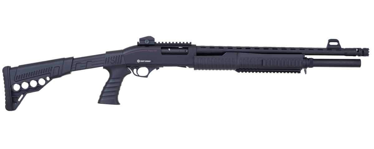 Broková pumpa MH-X Tactical predstavuje strednú triedu brokovníc pre všetkých, ktorí chcú strieľať súťažne, alebo sa chcú len tak vyblbnúť na strelnici. MH-X Tactical má 50cm hlaveň vhodnú aj na oceľové broky, zásobník na 7+1 nábojov, teleskopickú pažbu s držiakom na 4 náboje, predpažbie s railom na baterku, nastaviteľné mieridlá s railom na kolimátor a svetlovodnú mušku. MH-X Tactical je chokovateľná a 3 choky sú v balení.