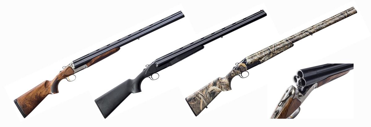 Trojhlavňová brokovnica s mnohými superlatívami: Chrómované hlavne lepené k sebe zlatom pre väčšiu trvácnosť spojov - ráže 12/70, 76, 89mm SUPERMAGNUM - tri základné verzie: drevo, polymér, kamufláž - zbraň je možné konfigurovať podľa požiadaviek zákazníka: dĺžka hlavne 50-81cm, telo strieborné alebo čierne, hlaveň lesklá alebo matná, spúšť čierna, strieborná, zlatá. - za príplatok rôzne úrovne spracovania dreva, špeciálna farebná úprava tela zbrane - hlaveň je chokovatelná.